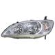 1ALHL00898-2004-05 Honda Civic Headlight Driver Side