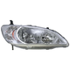 1ALHL00899-2004-05 Honda Civic Headlight Passenger Side
