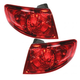 1ALTP00502-2007-09 Hyundai Santa Fe Tail Light Pair