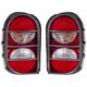 1ALTP00507-2005-07 Jeep Liberty Tail Light Pair