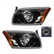 1ALHZ00033-2007-12 Dodge Caliber Headlight Pair