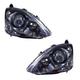 1ALHZ00008-2002-05 Honda Civic Headlight Pair
