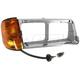 1ALBH00007-Freightliner FLD 112 FLD 120 Headlight Bezel w/Side Marker Light Passenger Side