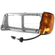 1ALBH00006-Freightliner FLD 112 FLD 120 Headlight Bezel with Parking Light Driver Side