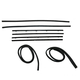 1AWSS00119-1967-72 Window Sweep & Run Channel Weatherstrip Seal Set