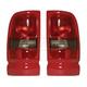 1ALTP00474-1994-01 Dodge Ram 1500 Truck Tail Light Pair