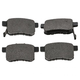 1ABPS00580-Acura TSX Honda Accord Brake Pads Rear Nakamoto MD1336