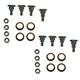 1ADRK00082-1993-02 Chevy Camaro Pontiac Firebird Door Hinge Pin & Bushing Kit (8 Pins  8 Bushings  & 8 Lock Nuts)