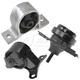 1AEEK00206-2001-05 Honda Civic Engine & Transmission Mount Kit