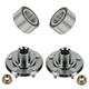 1ASHS00315-Acura MDX Honda Pilot Wheel Bearing & Hub Kit Pair Front