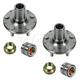 1ASHS00320-Wheel Bearing & Hub Kit Pair Rear