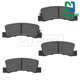 1ABPS00444-Brake Pads Rear Nakamoto MD325