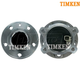 TKSHS00547-Volvo Wheel Bearing & Hub Assembly Rear Pair Timken HA590337