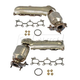 1AEEK00162-Exhaust Manifold with Catalytic Converter & Gasket Kit Pair