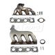 1AEEK00166-Exhaust Manifold & Gasket Kit Pair