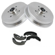 1ABDS00051-Volkswagen Cabrio Golf Jetta Brake Shoe & Drum Kit Rear