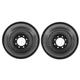 1ABDS00064-2000-01 Dodge Ram 3500 Truck Brake Drum Rear Pair