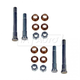 1ADRK00066-2006-13 Honda Ridgeline Door Hinge Pin & Bushing Kit (4 Pins  8 Bushings  & 4 Lock Nuts) Rear