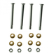 1ADRK00057-Ford Door Hinge Pin & Bushing Kit (4 Pins  8 Bushings  & 4 Lock Nuts)