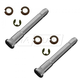 1ADRK00049-Door Hinge Pin & Bushing Kit (2 Pins  4 Bushings  & 2 Clips) Front