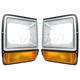 1ALPP00462-Dodge Headlight Bezel with Parking Light Pair