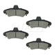 1ABPS00719-1999-02 Mercury Cougar Brake Pads Rear