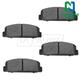 1ABPS00729-Mazda 6 Protege RX-7 Brake Pads Rear