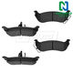 1ABPS00708-2004-08 Chrysler Pacifica Brake Pads Rear  Nakamoto CD998