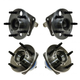 1ASHS00617-Wheel Bearing & Hub Assembly Rear Front