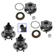 1ASHS00614-Wheel Bearing & Hub Assembly Rear Front