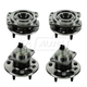 1ASHS00615-Wheel Bearing & Hub Assembly Rear Front