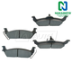 1ABPS00693-Brake Pads Rear  Nakamoto MD1012