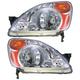 1ALHP00422-2002-04 Honda CR-V Headlight Pair
