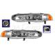 1ALHP00321-1997-98 Mitsubishi Galant Headlight Pair