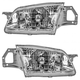 1ALHP00316-1999-00 Mazda Protege Headlight Pair