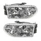1ALHP00333-1999-00 Mercury Villager Nissan Quest Headlight Pair
