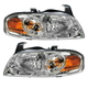 1ALHP00360-2004-06 Nissan Sentra Headlight Pair