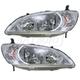 1ALHP00395-2004-05 Honda Civic Headlight Pair