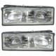 1ALHP00246-1987-90 Chevy Caprice Headlight Pair