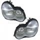 1ALHP00656-Mercedes Benz C240 C320 Headlight Pair