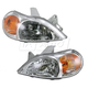 1ALHP00600-2001-02 Kia Rio Headlight Pair
