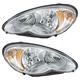1ALHP00543-2006-10 Chrysler PT Cruiser Headlight Pair