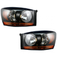 1ALHP00542-Dodge Headlight Pair