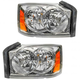 1ALHP00486-2005-07 Dodge Dakota Headlight Pair