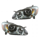 1ALHP00457-2003-04 Toyota Corolla Headlight Pair