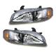 1ALHP00444-2002-03 Nissan Sentra Headlight Pair