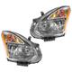 1ALHP00835-2008 Nissan Rogue Headlight Pair