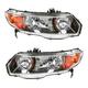 1ALHP00869-2006-09 Honda Civic Headlight Pair