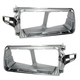 1ALPP00366-1990-07 Freightliner FLD 112 FLD 120 Headlight Bezel Pair Chrome