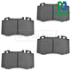 1ABPS00102-Mercedes Benz Brake Pads Front